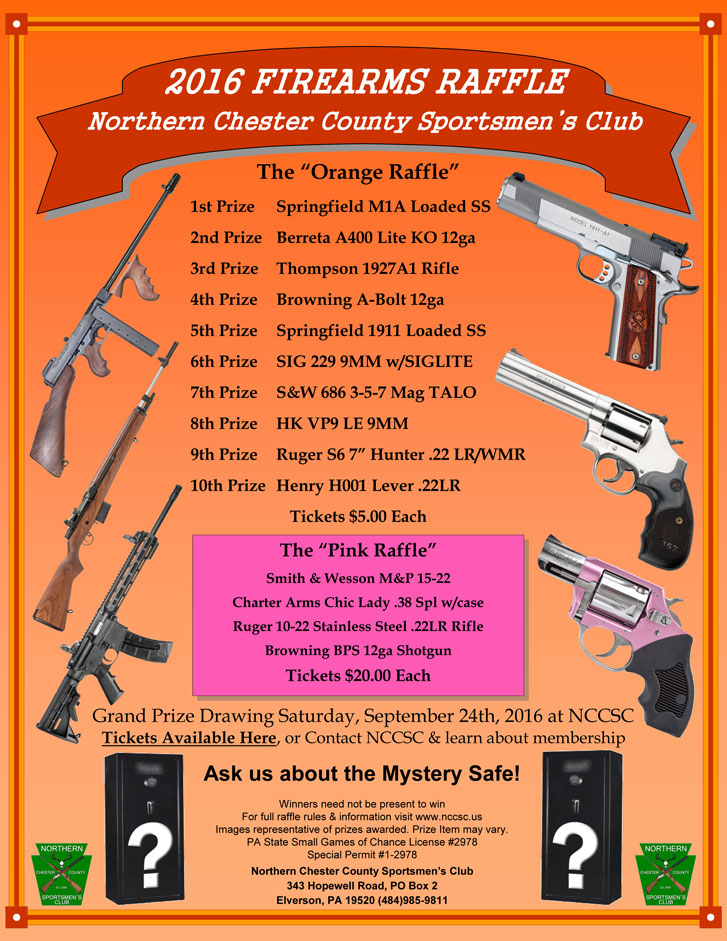 2016 fall gun raffle results